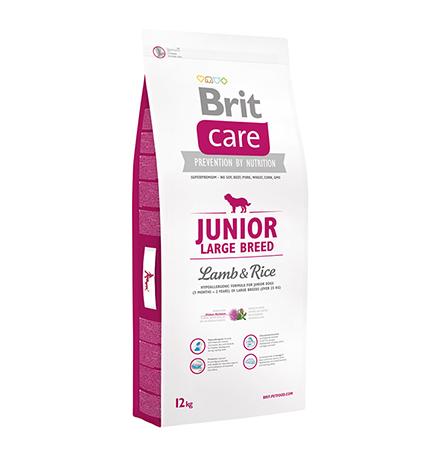 Brit Care Junior Large Breed / Сухой корм Брит для Юниоров Крупных пород Ягненок Рис