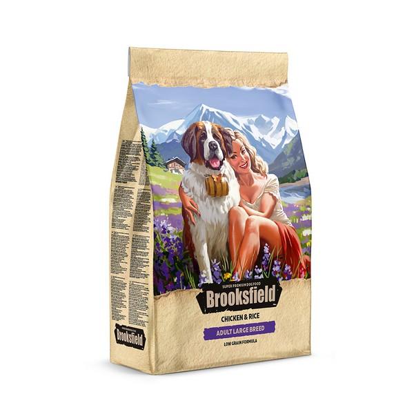Brooksfield Adult Dog Large Breed / Сухой корм Бруксфилд для взрослых собак Крупных пород Курица рис