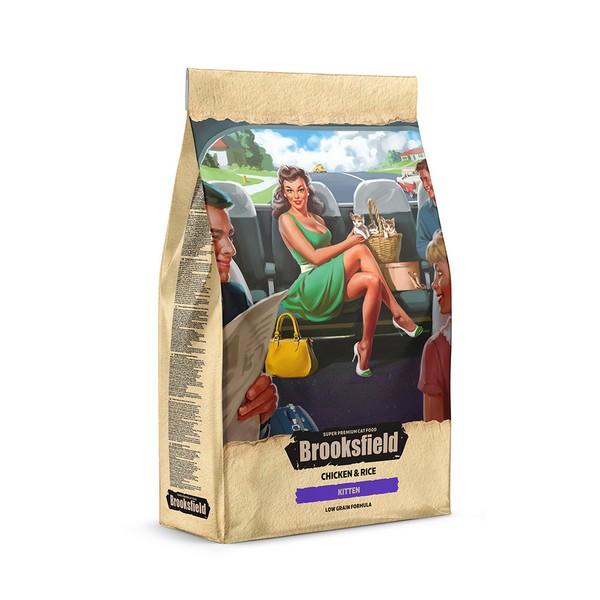 Brooksfield Kitten / Сухой корм Бруксфилд для Котят от 1 до 12 месяцев Курица рис