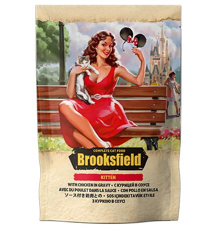 Brooksfield Kitten Chicken / Паучи Бруксфилд для Котят Цыпленок в соусе (цена за упаковку)