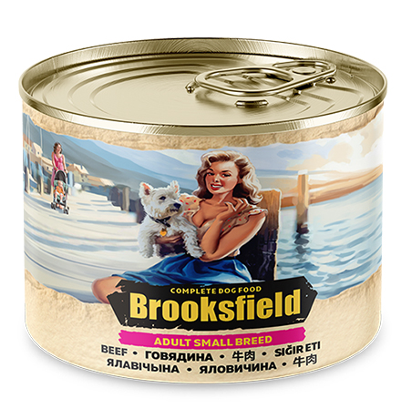 Brooksfield Dog Adult Small Breed / Консервы Бруксфилд для взрослых собак Мелких пород Говядина с рисом (цена за упаковку)