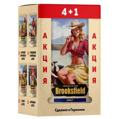Brooksfield Cat Adult Mix /  Набор паучей Бруксфилд для взрослых кошек (цена за упаковку)