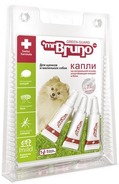 mr Bruno / Капли Мистер Бруно для Щенков и Маленьких собак весом менее 10 кг Репеллентные 1 мл