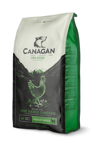 Canagan GF Free Range Chicken Medium Breed / Сухой Беззерновой корм Канаган для собак Средних пород Цыпленок