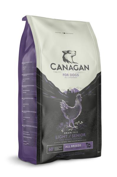 Canagan GF Light / Senior All Breeds / Сухой Беззерновой корм Канаган для Пожилых собак всех пород и собак с Избыточным весом Цыпленок
