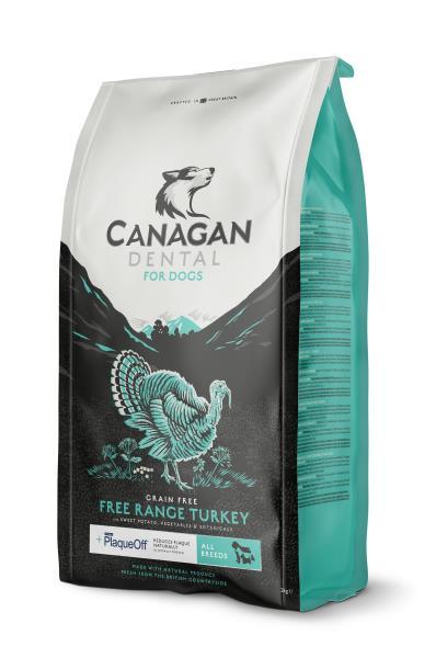 Canagan GF Dental Free Range Turkey All Breeds / Сухой Беззерновой корм Канаган для собак всех пород для Ухода за полостью рта Индейка