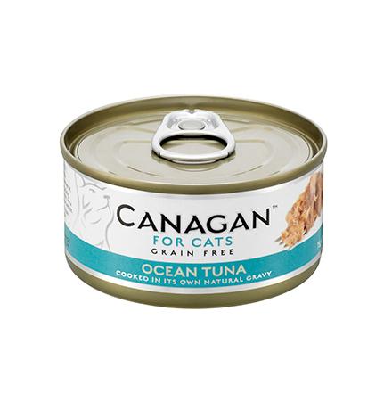 Canagan GF Ocean Tuna / Полнорационные Беззерновые консервы Канаган для кошек Океанический Тунец (цена за упаковку)
