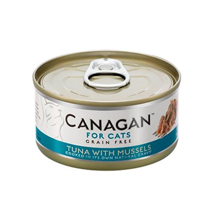Canagan GF Tuna with Mussels / Полнорационные Беззерновые консервы Канаган для кошек Тунец с Мидиями (цена за упаковку)