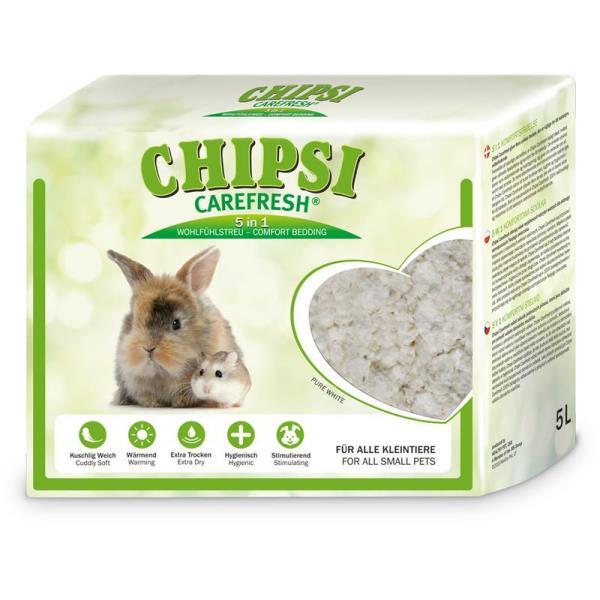 Chipsi Carefresh Pure White / Бумажный наполнитель-подстилка Чипси Кэафреш для мелких домашних животных и птиц Белый