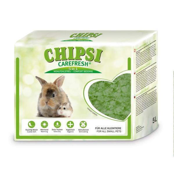 Chipsi Carefresh Forest Green / Бумажный наполнитель-подстилка Чипси Кэафреш для мелких домашних животных и птиц Зеленый