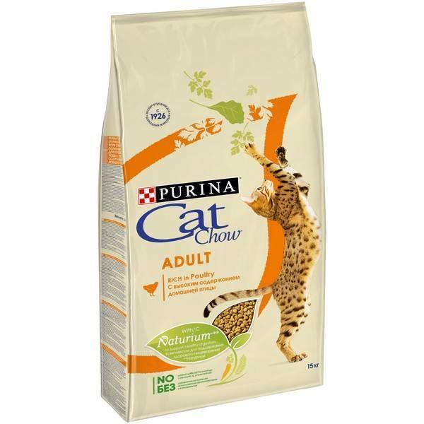 Purina Cat Chow Adult Poultry / Сухой корм Пурина Кэт Чау для взрослых кошек Домашняя птица