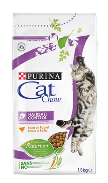 Purina Cat Chow Hairball Control / Сухой корм Пурина Кэт Чау для кошек Вывод волосяных комочков