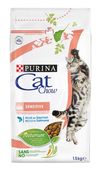 Purina Cat Chow Sensitive / Сухой корм Пурина Кэт Чау для кошек с чувствительным пищеварением