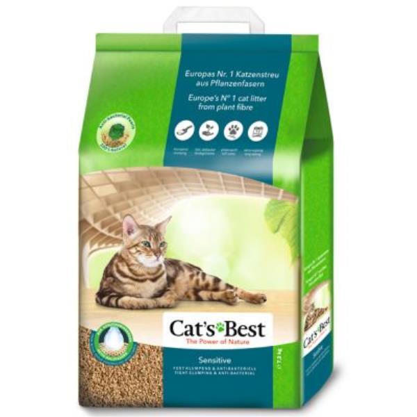 Cats Best Sensitive / Наполнитель для туалета котят и кошек Кэтс Бест Древесный комкующийся