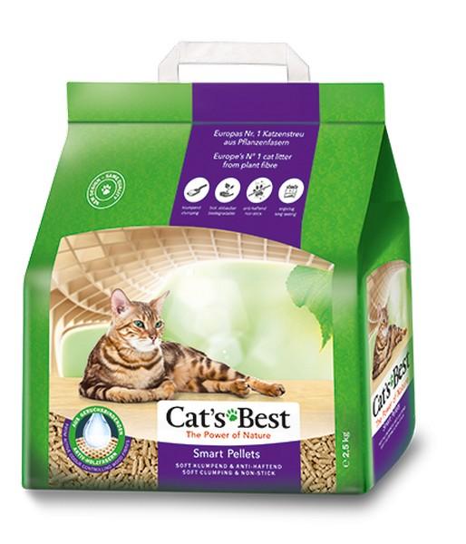 Cats Best Smart Pellets / Наполнитель для кошачьего туалета Кэтс Бест Смарт Пелетс Древесный комкующийся