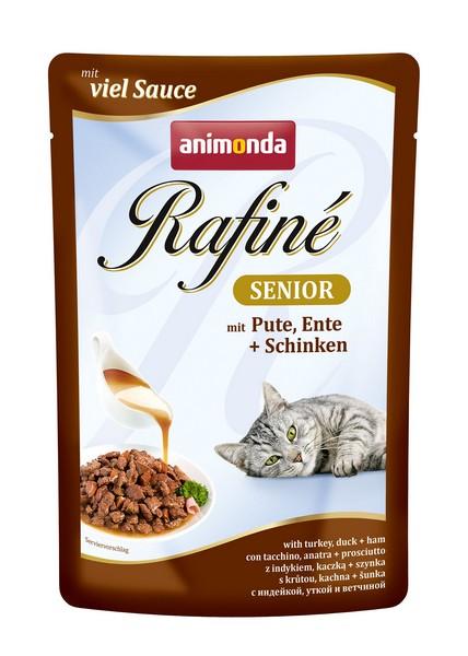 Animonda Rafinе Soupе Senior / Паучи Анимонда для Пожилых кошек старше 7 лет с Индейкой, Уткой и Ветчиной (цена за упаковку)