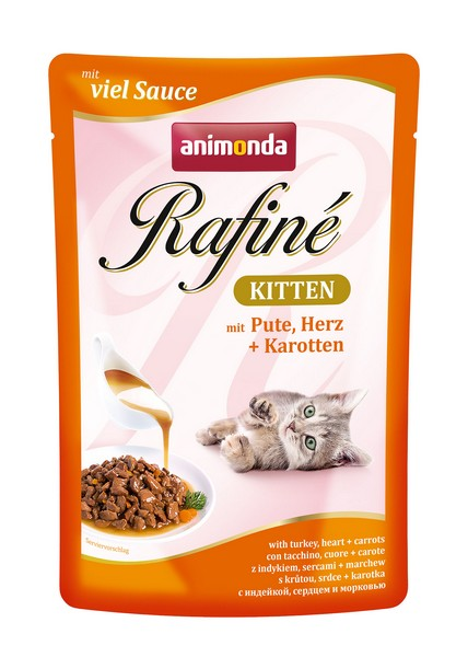 Animonda Rafine Soupe Kitten / Паучи Анимонда для Котят коктейль из мяса Индейки, Сердца и Моркови (цена за упаковку)