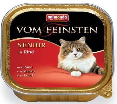 Animonda Vom Feinsten Senior / Консервы Анимонда для Пожилых кошек старше 7 лет с Говядиной (цена за упаковку)