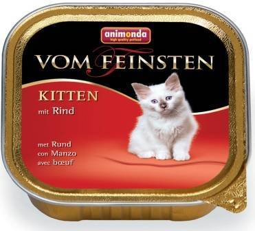 Animonda Vom Feinsten Kitten / Консервы Анимонда для Котят с Говядиной (цена за упаковку)