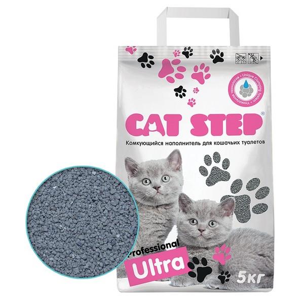 Cat Step Professional Ultra / Комкующийся наполнитель Кэт Степ для кошачьего туалета 5 кг