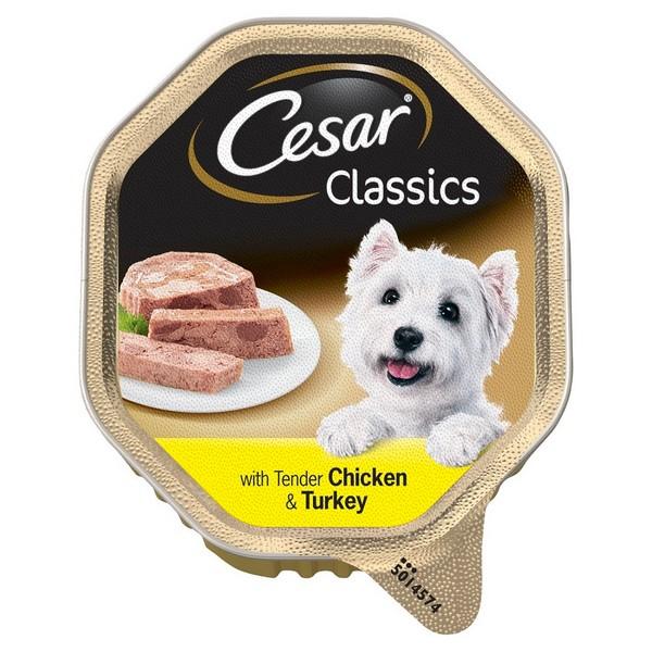 Cesar Classics / Консервы Цезарь для собак Паштет Курица & Индейка (цена за упаковку)