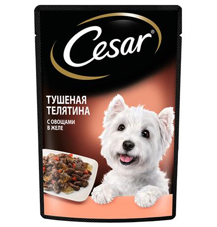 Cesar / Паучи Цезарь для собак Тушеная телятина с овощами (цена за упаковку)
