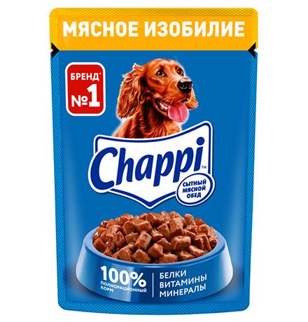 Chappi / Паучи Чаппи для собак Мясное изобилие (цена за упаковку)