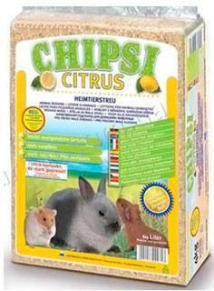 Chipsi Citrus / Наполнитель Чипси для грызунов Опилки древесные ароматизированные