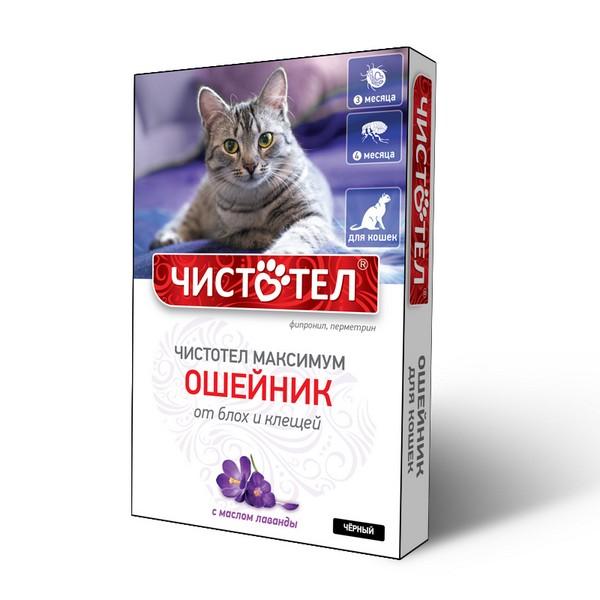Чистотел Максимум / Ошейник для кошек от Блох и Клещей