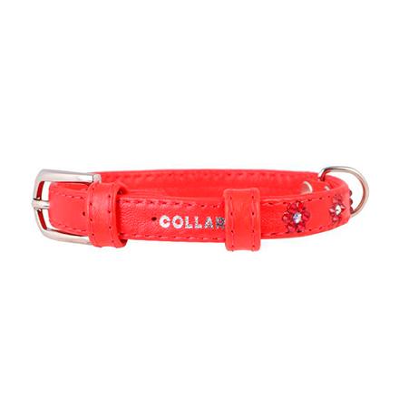 CoLLaR Glamour / Ошейник Колар для собак Кожаный Двойной Прошитый с клеевыми стразами