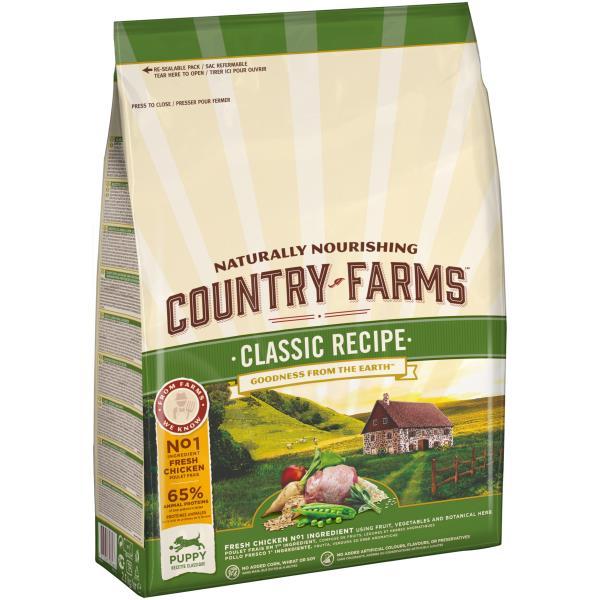 Country Farms Puppy Classic recipe Chicken / Сухой Классический полнорационный корм Кантри Фармз для Щенков с высоким содержанием Курицы