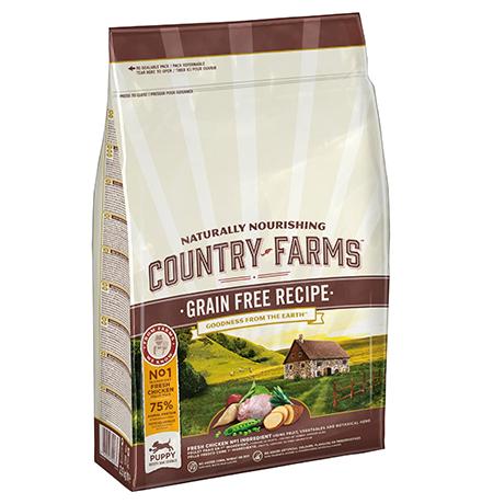 Country Farms Puppy Grain free recipe Chicken / Сухой Беззерновой полнорационный корм Кантри Фармз для Щенков с высоким содержанием Курицы