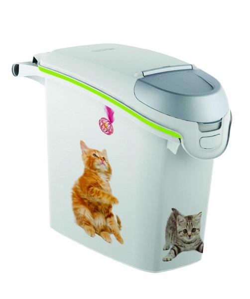 Curver PetLife / Контейнер Кервер Петлайф для корма с рисунком Кошачьи Цап-царапки объем 23 л (10 кг)