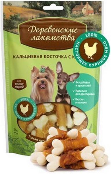 Деревенские лакомства / Кальциевая косточка с Курицей для собак Мини пород