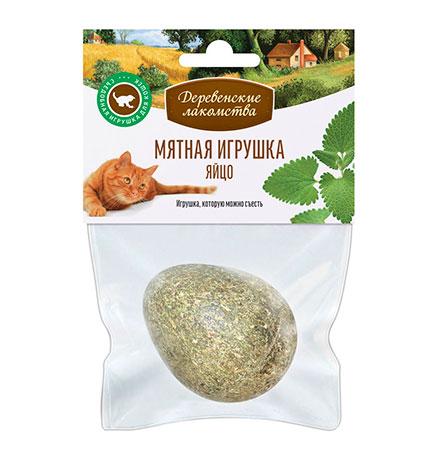 Деревенские лакомства / Мятное яйцо для кошек