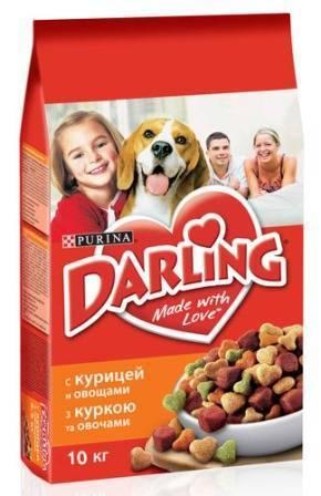 Darling Dog / Сухой корм Дарлинг для собак с Птицей и Овощами