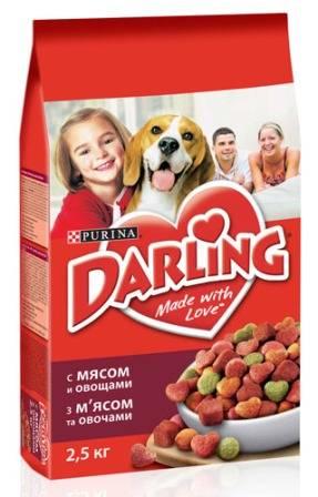 Darling Dog / Сухой корм Дарлинг для собак с Мясом и Овощами