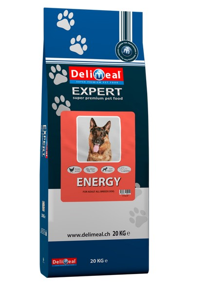Delimeal Expert All Breed Energy / Сухой корм Делимил для взрослых собак всех пород, испытывающих повышенные физические нагрузки или живущих вне помещения Курица рыба