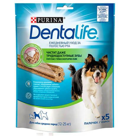 Purina Dentalife / Лакомство Пурина Денталайф для собак Средних пород Палочки Ежедневный уход за полостью рта