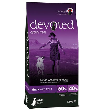 Devoted Adult All Breeds Duck with Trout Grain free / Сухой Беззерновой корм Дивоутед для взрослых собак всех пород с Уткой и форелью