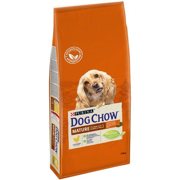 Purina Dog Chow Mature Adult 5+ Chicken / Сухой корм Пурина Дог Чау для собак Старшего возраста Курица