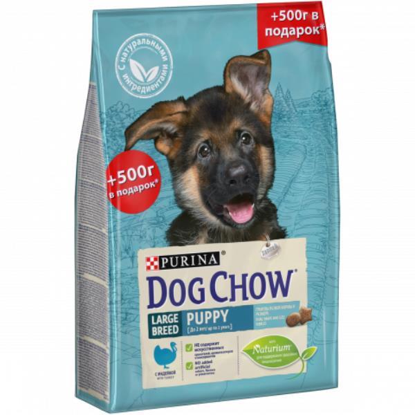 Purina Dog Chow Puppy Large Breed Turkey / Сухой корм Пурина Дог Чау для Щенков Крупных Пород Индейка