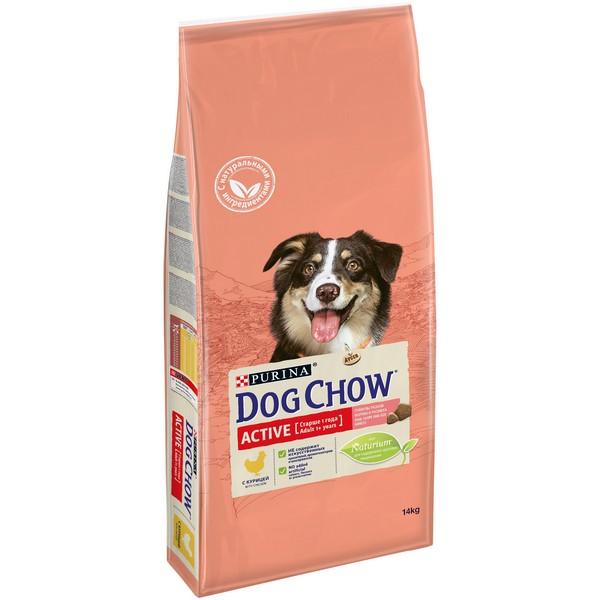 Purina Dog Chow Adult Active Chicken / Сухой корм Пурина Дог Чау для взрослых Активных собак Курица