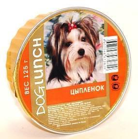Dog Lunch / Консервы для взрослых собак ДогЛанч Цыпленок Крем-суфле Ламистер