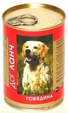 Dog Lunch / Консервы для взрослых собак ДогЛанч Говядина в Желе