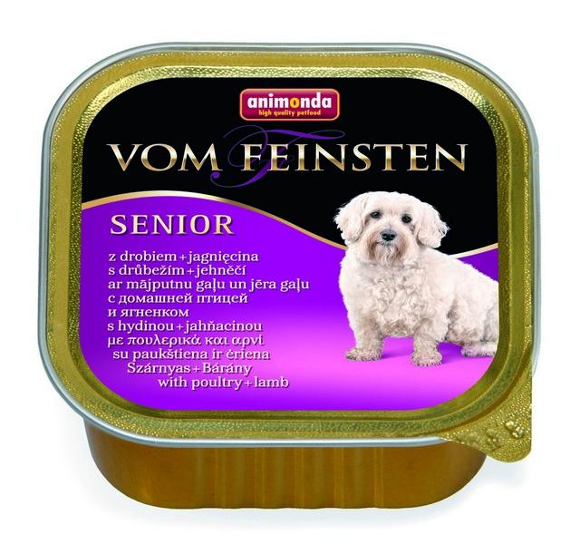 Animonda Vom Feinsten Senior / Консервы Анимонда для собак старше 7 лет с мясом домашней Птицы и Ягненком (цена за упаковку)