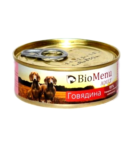 BioMenu Adult Консервы для Собак Говядина Цена за упаковку 100x24