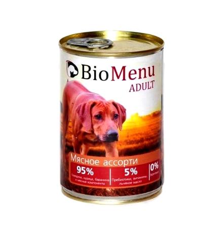 BioMenu Adult Консервы для Собак Мясное ассорти Цена за упаковку 410x12