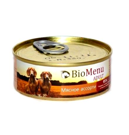 BioMenu Adult Консервы для Собак Мясное ассорти Цена за упаковку 100x24