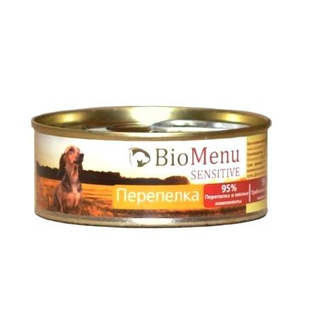 BioMenu Sensitive Консервы для Собак Перепелка Цена за упаковку 100x24
